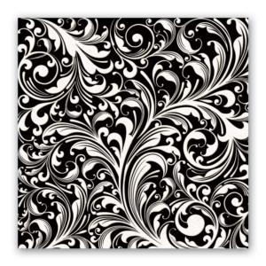 Michel Design Works Black Florentine Luncheon Napkins - The Laundry Evangelist