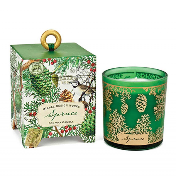 Spruce Soy Wax Candle Michel Design Works - The Laundry Evangelist