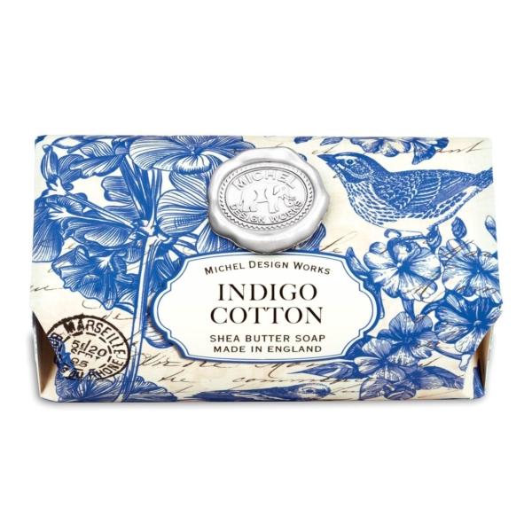 Michel Design Works Indigo Cotton Shea Butter Soap - The Laundry Evangelist